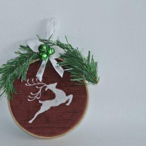 """4"""" Reindeer Hoop Ornament - Variant 4"""