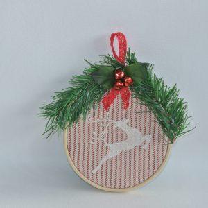 """4"""" Reindeer Hoop Ornament - Variant 3"""