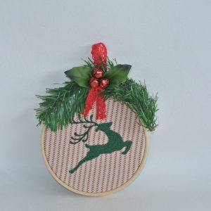 """4"""" Reindeer Hoop Ornament - Variant 2"""