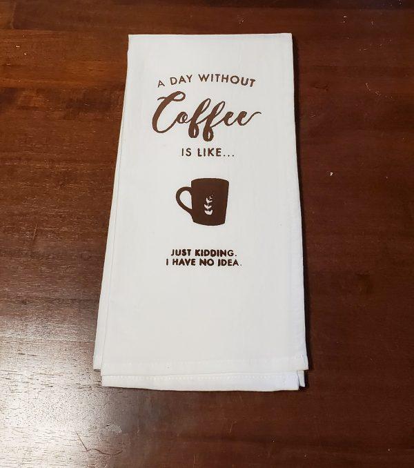 dish towel coffee