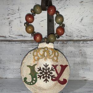 JOY ornament wood beads
