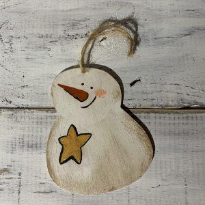star snowman ornament