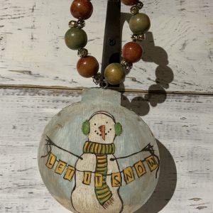 metal snowman ornament
