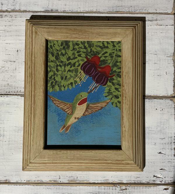 hummingbird painting