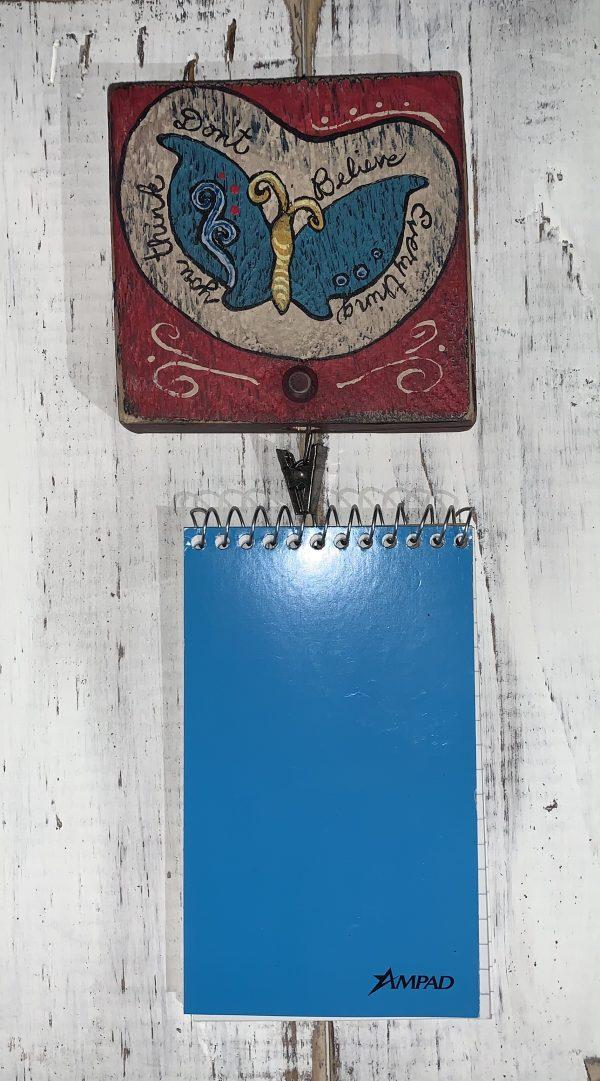 butterfly notebook holder