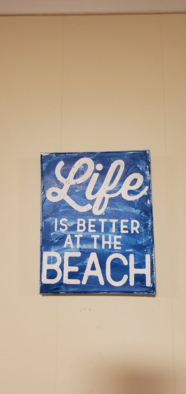 life is better at beach wall art