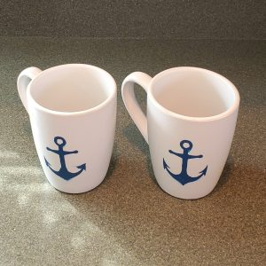12 oz coffee mugs with anchors