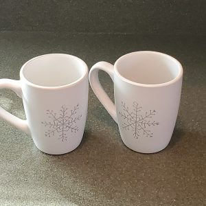 12 oz coffee mugs with snowflakes