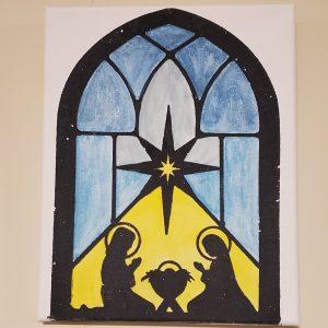 Nativity wall art