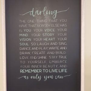 darling poem wall art