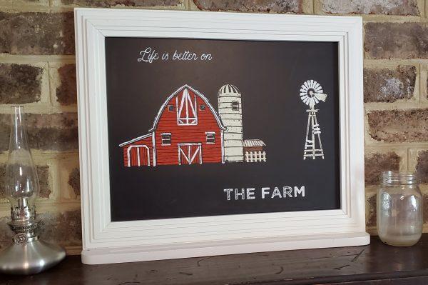 life better on farm wall art